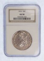 1833 CAPPED BUST/LETTERED EDGE HALF DOLLAR NGC AU 58 SILVER 50C
