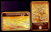 GOLD PLATED BAR : NAPOLEON AND THE BATTLE OF PYRAMIDS