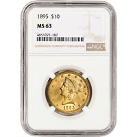 US GOLD $10 LIBERTY HEAD EAGLE   NGC MS63   RANDOM DATE