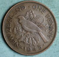 NEW ZEALAND PENNY 1941 KING GEORGE VI   WWII  COMBINED S.& H.