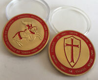 CROSS TEMPLAR CRUSADERS KNIGHTS CHRISTIAN COINS COMMEMORATIVE COLLECTIBLES COIN