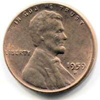 U.S. 1959 D LINCOLN MEMORIAL PENNY   AMERICAN ONE CENT COIN   DENVER MINT