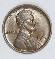 1914 LINCOLN/WHEAT EARS REVERSE CENT ALMOST UNCIRCULATED 1-CENT