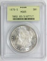 1879 S MORGAN SILVER DOLLAR MINT STATE 65 PCGS 7717