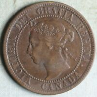 CANADA 1896 LARGE CENT NEAR 6 COMBINED S.& H.