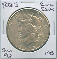1922-S PEACE DOLLAR  DATE UNCIRCULATED US MINT COIN PQ GEM SILVER COIN MS