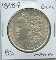 1898-P MORGAN DOLLAR UNCIRCULATED US MINT GEM PQ SILVER COIN UNC MS