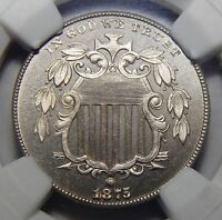 1875 NGC PF66 CAMEO SHIELD NICKEL