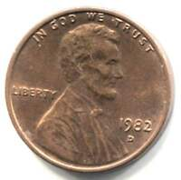 U.S. 1982 D LINCOLN MEMORIAL PENNY - AMERICAN ONE CENT COIN - DENVER MINT