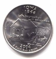IOWA FOUNDATION IN EDUCATION STATE QUARTER 2004 D COIN   DENVER MINT