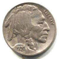 US 1930 S INDIAN BUFFALO NICKEL   AMERICAN FIVE CENT COIN   SAN FRANCISCO MINT