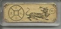 CHINESE YEAR OF THE TIGER COMMEMORATIVE COIN BAR