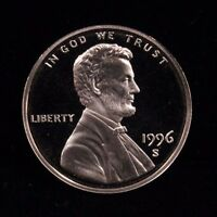 1996 S UNCIRCULATED MINT PROOF LINCOLN CENT 1C COIN DCAM
