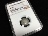 NGC AU 50 MEXICO 1/2 REAL 1776 44307