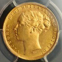 1879 M AUSTRALIA QUEEN VICTORIA.  BEAUTIFUL GOLD  SOVEREIGN COIN. PCGS MS 62