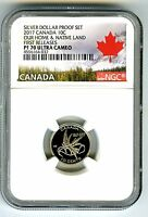 2017 CANADA 150TH ANNIV PROOF 10 CENT WINGS OF PEACE NGC PF7