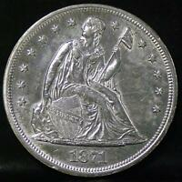1871 LIBERTY SEATED DOLLAER IDKK370