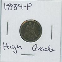 1884-P SEATED LIBERTY DIME US MINT SILVER COIN HIGH GRADE