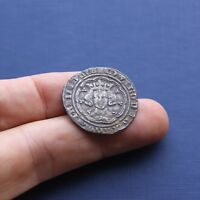 HAMMERED SILVER COIN EDWARD 3RD GROAT LONDON MINT C 1351 AD