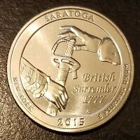 2015 S SARATOGA NATIONAL PARK QUARTER   FROM MINT ROLL  7534