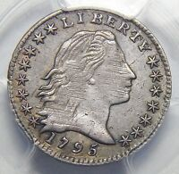 1795 PCGS EXTRA FINE 45 LM-8 FLOWING HAIR HALF DIME
