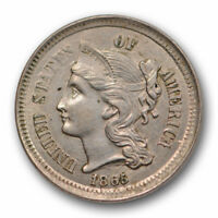 1865 THREE CENT NICKEL UNCIRCULATED HIGH END MINT STATE US COIN 10675