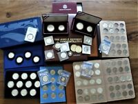 EXTENSIVE KENNEDY HALF DOLLAR PROOFS SILVER GOLD COMMEMORATIVES WOW