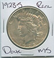 1923-S PEACE DOLLAR  DATE UNCIRCULATED US MINT COIN SILVER COIN UNC MS