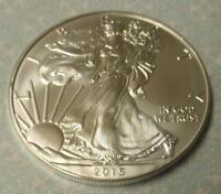 2015 SILVER EAGLE DOLLAR 1 OZ .999 FINE SILVER,  COIN FROM BU ROLL ASE