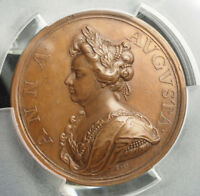 1710 QUEEN ANNE OF ENGLAND. COPPER
