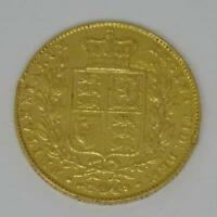 1844 YOUNG HEAD QUEEN VICTORIA SHIELD BACK 22CT GOLD FULL SO