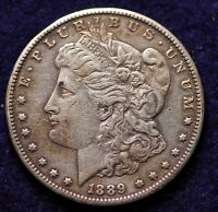 GENUINE 1889-S US SILVER DOLLAR COIN