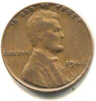 U.S. 1946 LINCOLN WHEAT CENT - AMERICAN ONE CENT COIN - PHILADELPHIA MINT