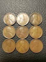 1909 1910 1913 1916 1917 1918 1918 S 1919 1919 D LINCOLN WHEAT CENT MIXED LOT