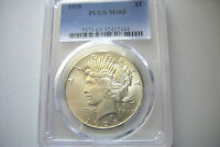 1928  PEACE  DOLLAR  -  PCGS -  MINT STATE 63