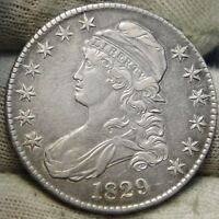 1829 CAPPED BUST HALF DOLLAR - 50 CENTS,   COIN, SHIPS FREE  6053
