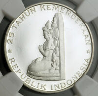 1970 INDONESIA. PROOF SILVER 200 RUPIAH