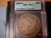 1903-S SILVER MORGAN DOLLAR VAM 2