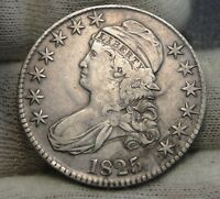 1825 CAPPED BUST HALF DOLLAR 50 CENTS -  COIN SHIPS FREE 7533