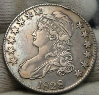 1828 CAPPED BUST HALF DOLLAR 50 CENTS -  COIN SHIPS FREE 7545