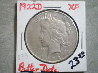 1922-D PEACE SILVER DOLLAR/ TOP PICK
