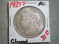1921-D MORGAN SILVER DOLLAR/ TOP PICK/ CLEANED