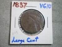 1837 CORONET HEAD LARGE CENT-- HOBBY STARTER GIFT FOR YOUNG AND OLD