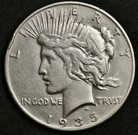 1935-S PEACE SILVER DOLLAR.  HIGH GRADE DETAIL.  130268
