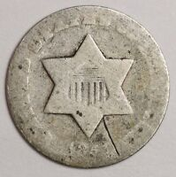 1851-O 3 CENT SILVER.  POOR 1.