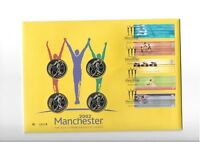 2002 2 X 4 DIFFERENT COINS ON MANCHESTER COMMONWEALTH GAMES