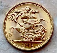 1968 GOLD SOVEREIGN EXCELLENT CONDITION 22 CARAT GOLD SOVERE