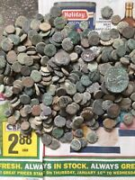 UNCLEANED AND UNSORTED GREEK DESERT COINS FROM ISRAEL  EACH BID IS PER COIN