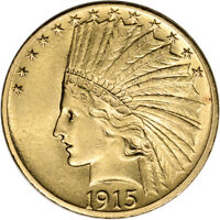 US GOLD $10 INDIAN HEAD EAGLE   AU CONDITION   RANDOM DATE