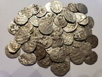 1  1533 1584 SILVER DENGA COIN / RUSSIA IVAN IV 'THE TERRIBLE' MEDIEVAL ANCIENT
